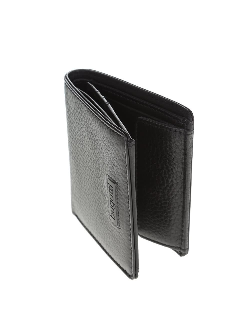Čierna pánska kožená peňaženka bugatti Pregio ... 932a43d4bb3