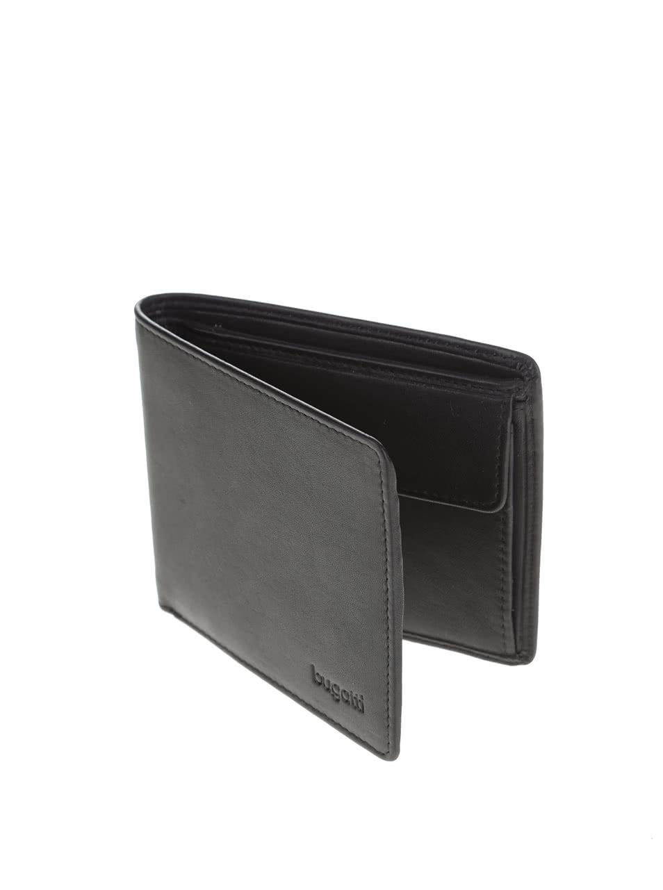 772f89efa6 Čierna pánska kožená peňaženka bugatti Sempre ...