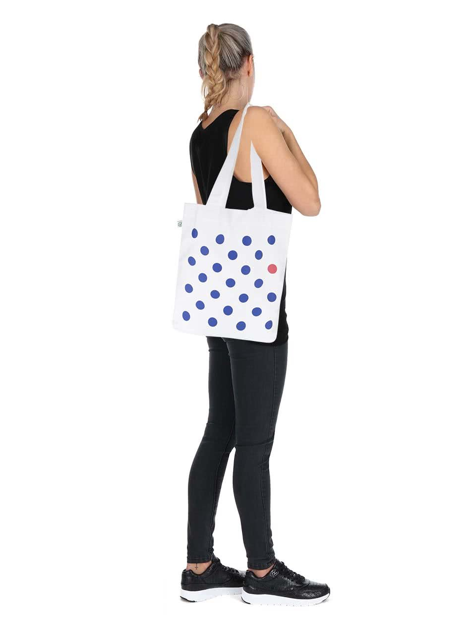 """Dobrá"" bílá plátěná taška Mamma HELP"