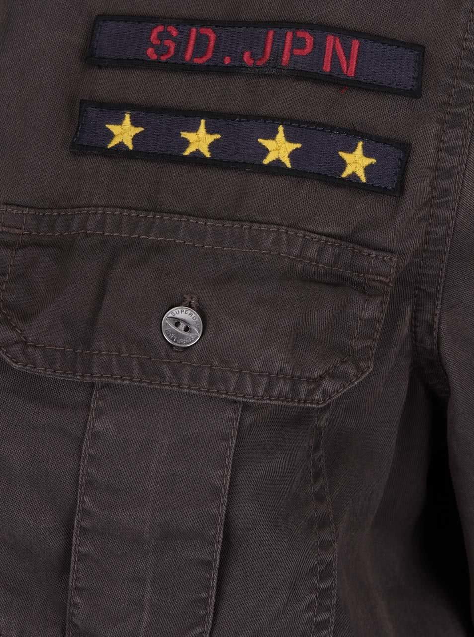 e048c27b60fb Tmavosivá dámska košeľa Superdry Military ...
