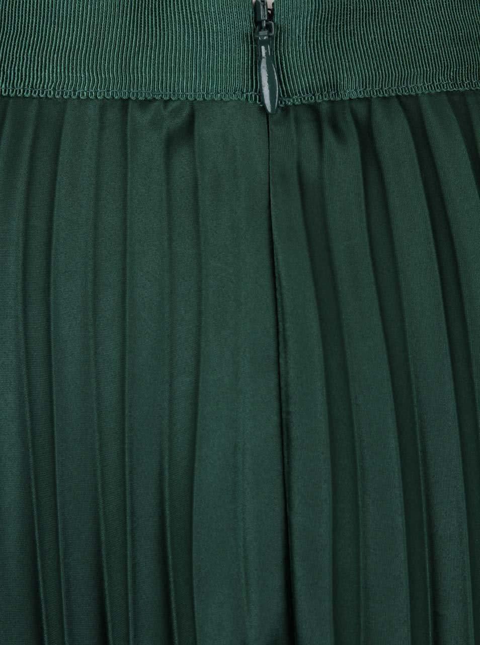 Tmavě zelená plisovaná sametová sukně Maison Scotch ... e66dc34126