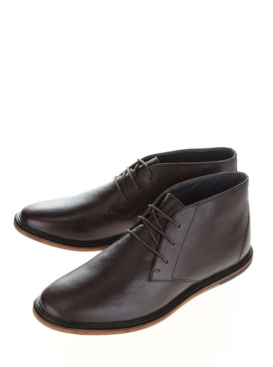 10b8299b154 Tmavě hnědé kožené kotníkové boty Frank Wright Walker ...