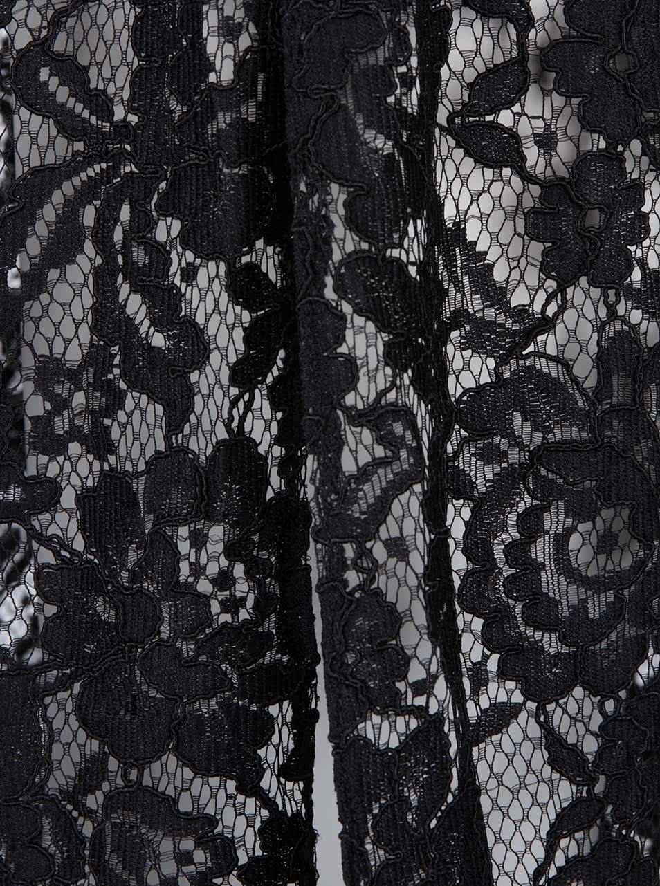 9aebfbc1a464 Černé krajkové průsvitné šaty s límečkem Closet ...