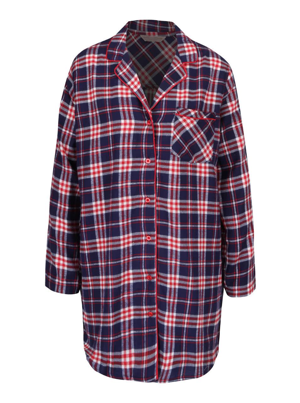 Červeno-modrá kostkovaná noční košile Dorothy Perkins ... b9ac8579df