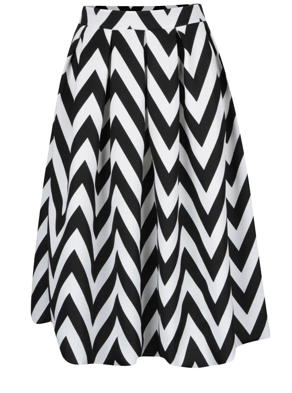 b83fc9501adf Krémovo-čierna vzorovaná áčková sukňa Dorothy Perkins ...
