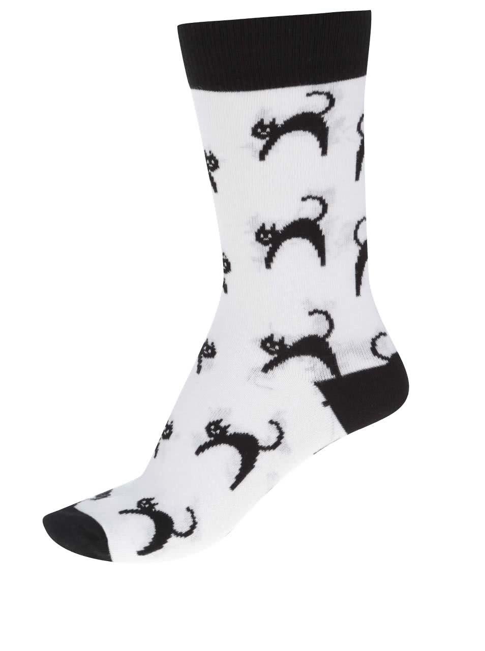 Bílé dámské ponožky ZOOT Originál Kočka ... 650507d0d6