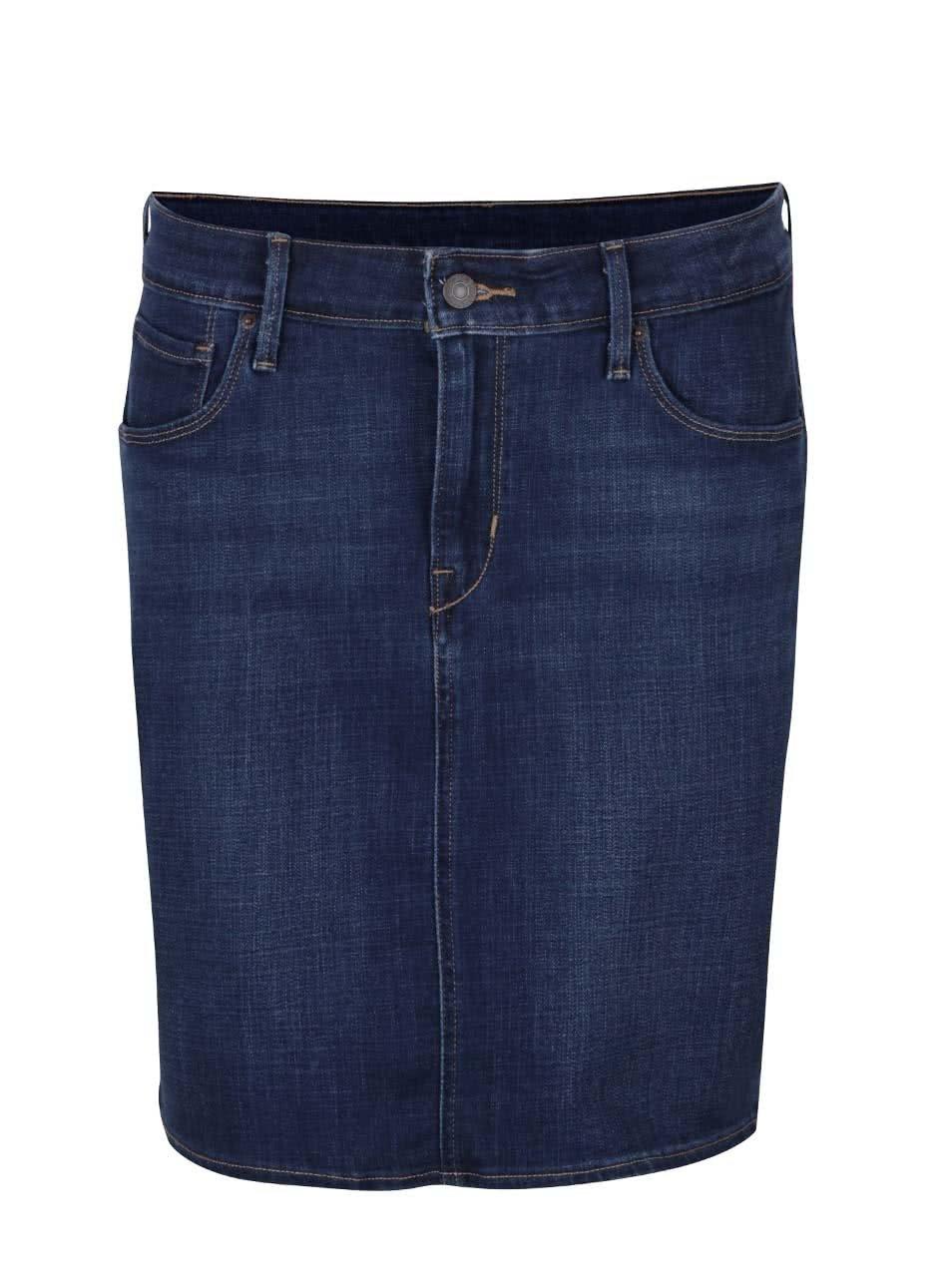 Tmavě modrá džínová sukně Levi s® ... c403bceb08