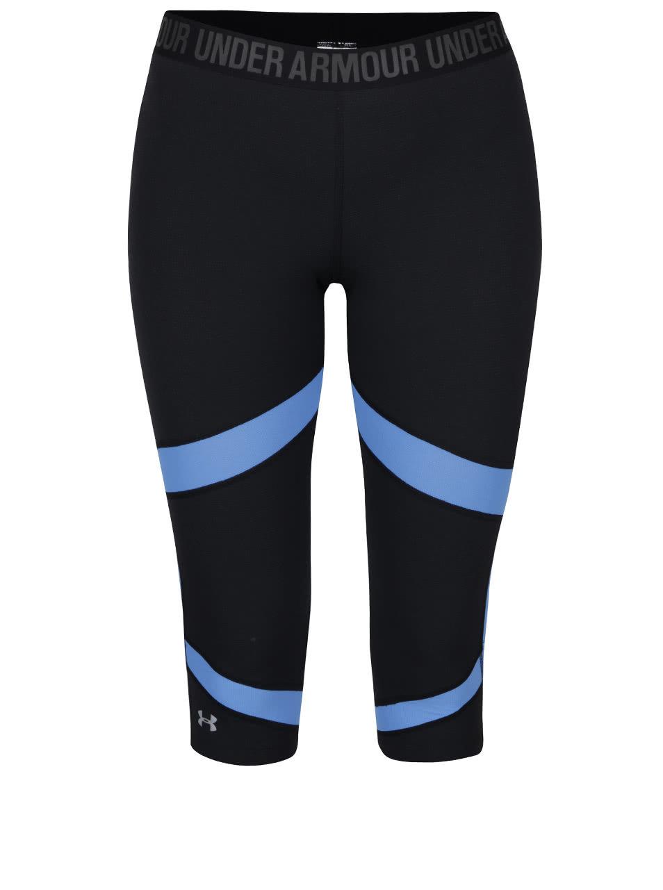 eab24b1a1d5 Modro-černé dámské sportovní legíny Under Armour Coolswitch Capri ...