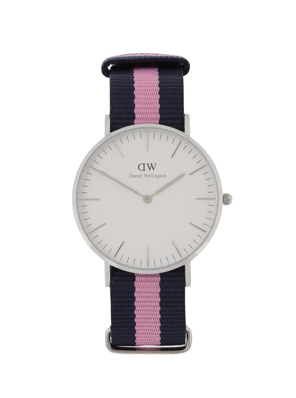 Dámske hodinky v striebornej farbe CLASSIC Winchester Daniel Wellington ... 5be53d58780