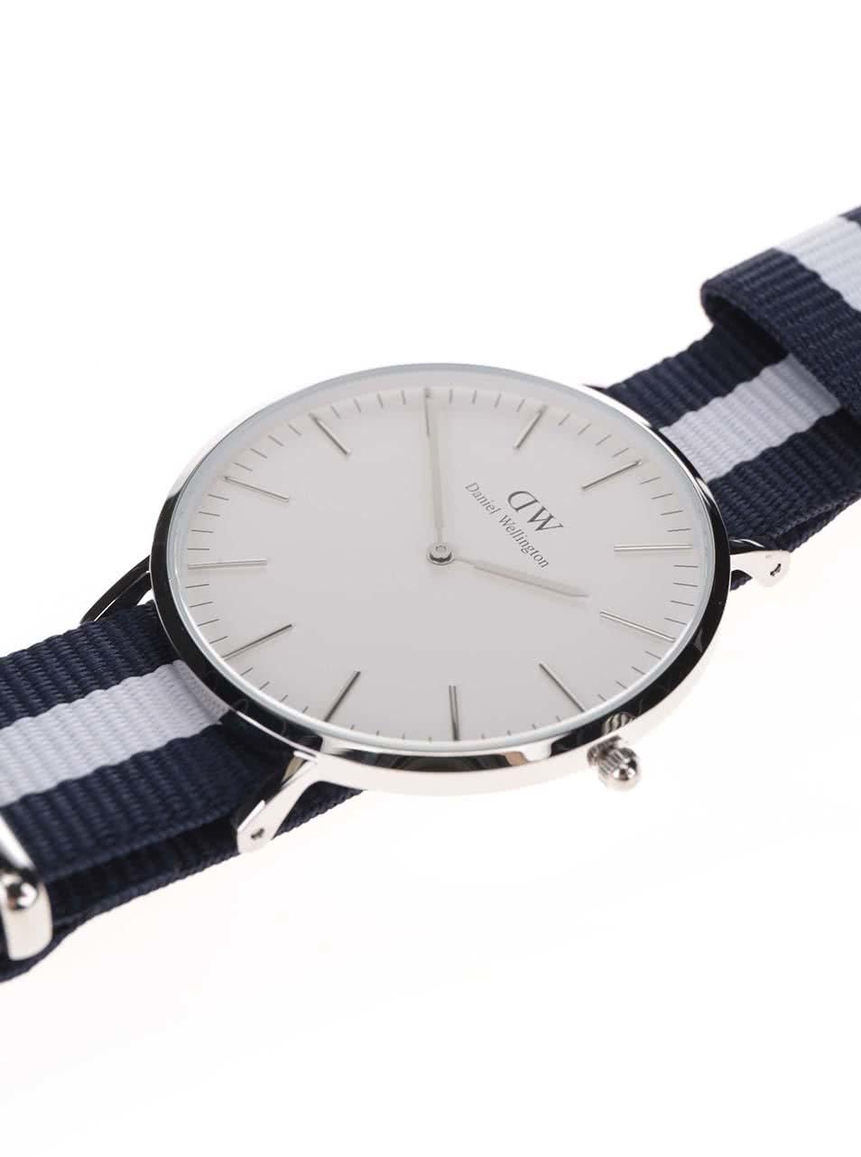Pánské hodinky ve stříbrné barvě CLASSIC Glasgow Daniel Wellington ... 40c730beb41