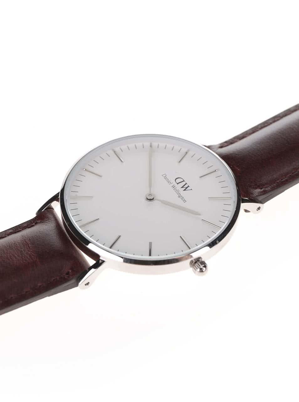 a0550e097df Dámské hodinky s hnědým koženým páskem Daniel Wellington CLASSIC Bristol ...