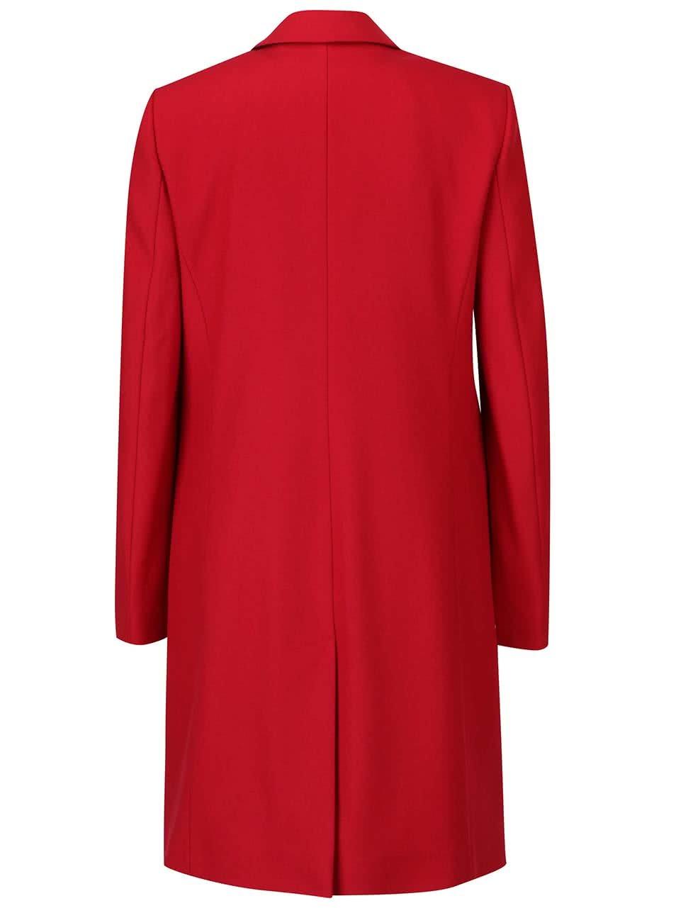 Červený dámský vlněný kabát French Connection Platform ... f650d680feb