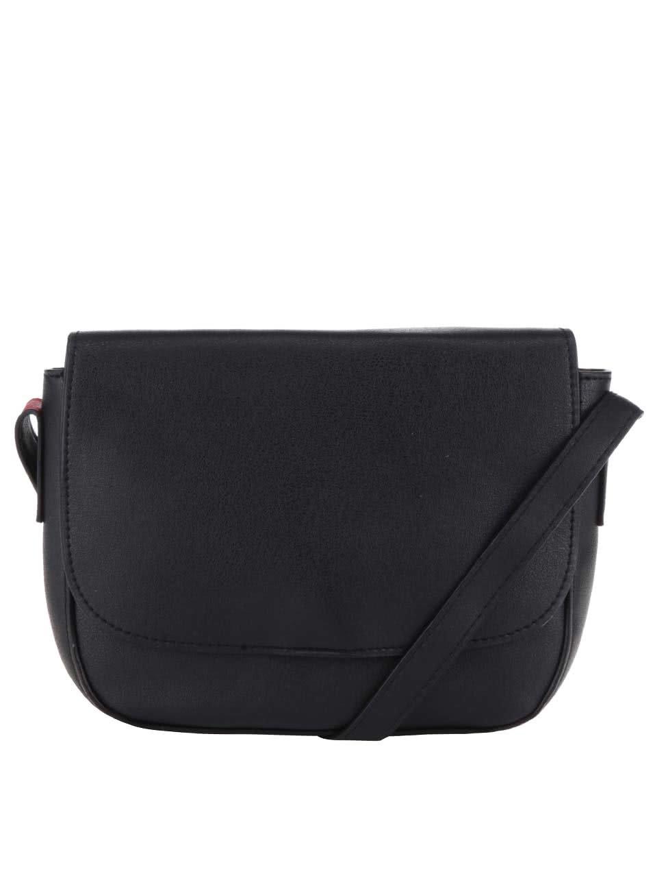 Čierna menšia crossbody kabelka Pieces Deena ... 28ff5ba3b6c