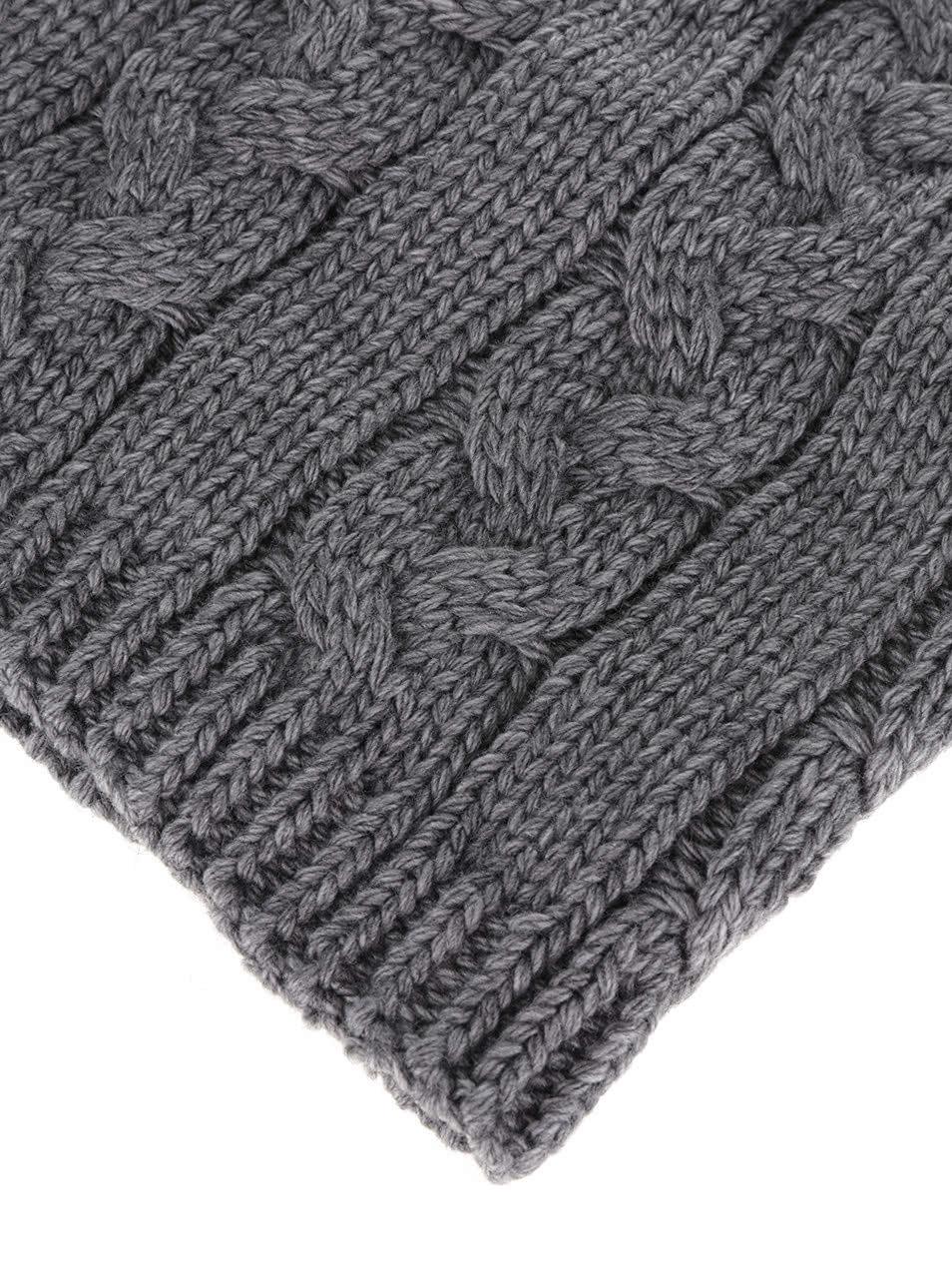Tmavě šedá holčičí dutá pletená šála 5.10.15.  695297a17d