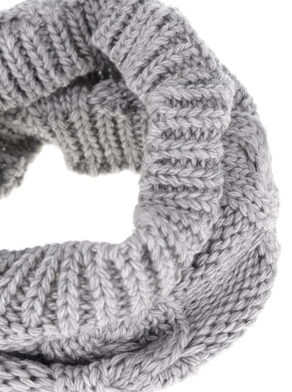 Šedá holčičí dutá pletená šála 5.10.15.  7ad1ac7c00