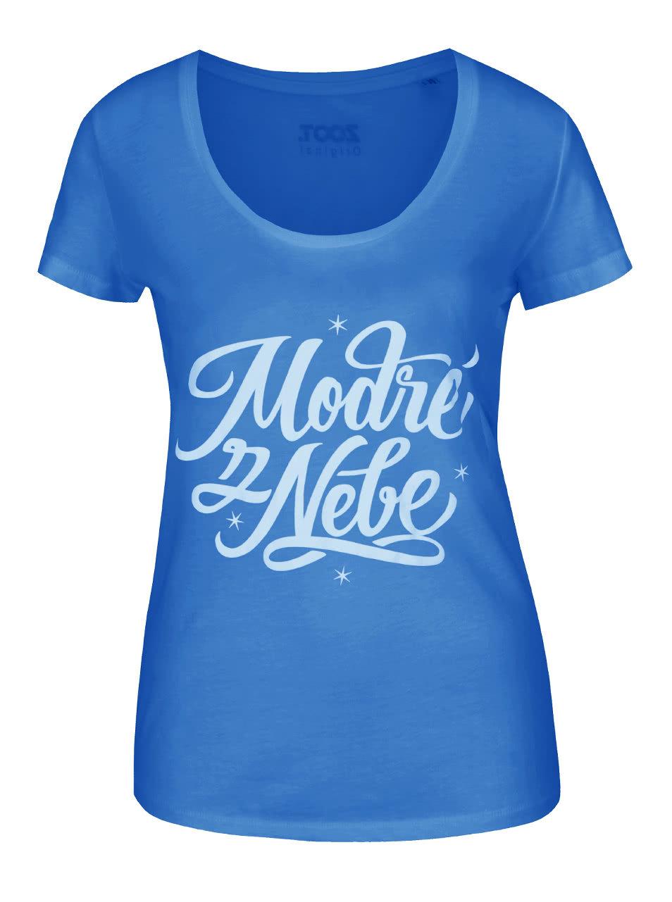 Modré dámské tričko ZOOT Originál Modré z nebe ... dcbec81dc5