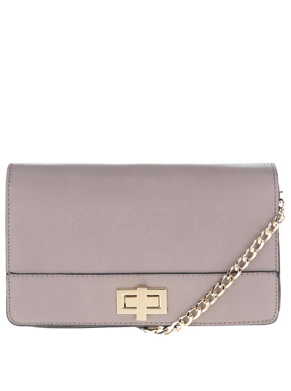 f5ec6bdbb5 Hnedo-sivá crossbody kabelka s detailmi v zlatej farbe Gionni Adrienne ...