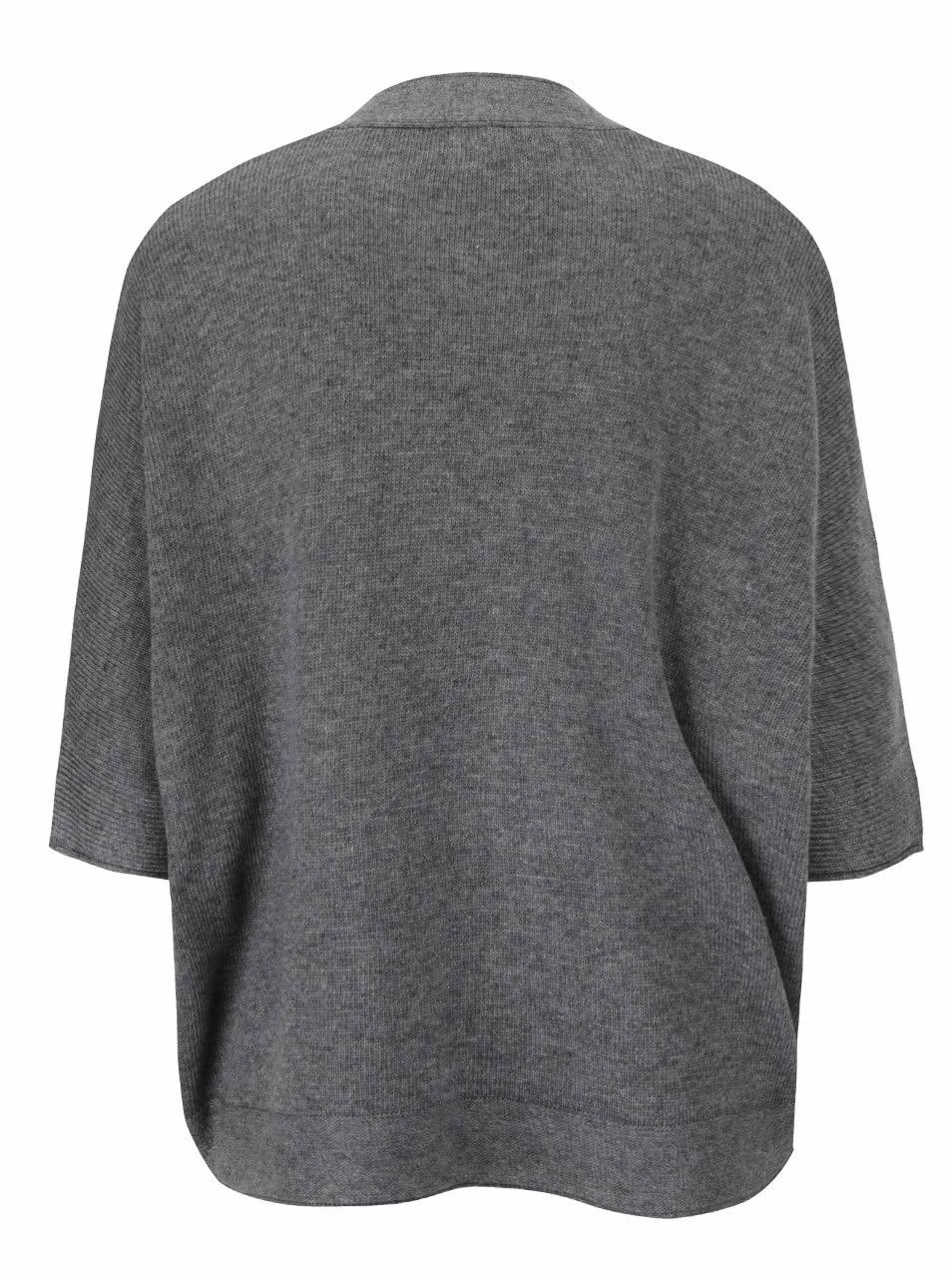 Sivý dámsky oversize sveter s netopierími rukávmi Broadway Rhian ... 2eca0a602a4