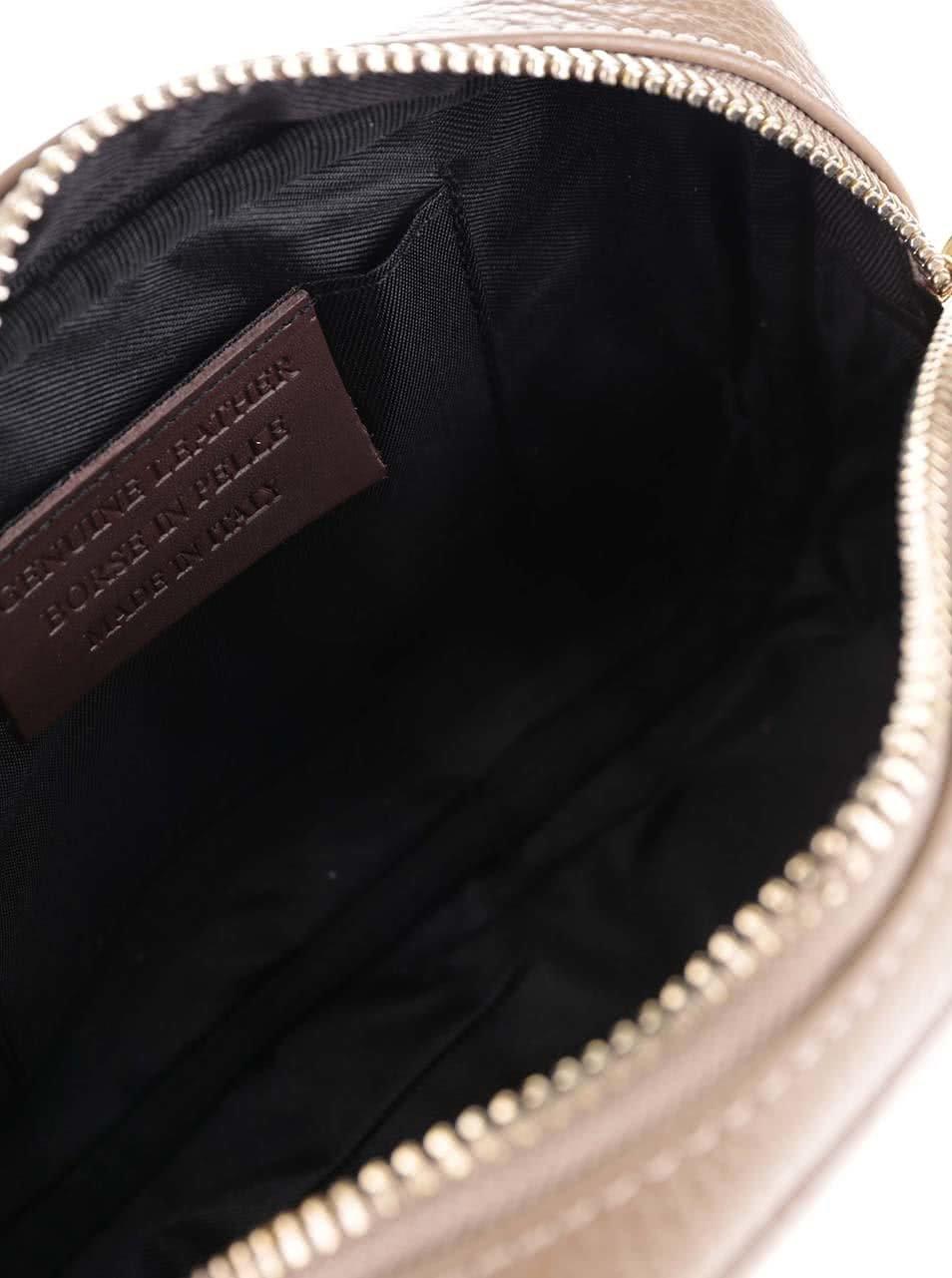 Svetlohnedá kožená crossbody kabelka so strapcom ZOOT ... f1864b28a6d