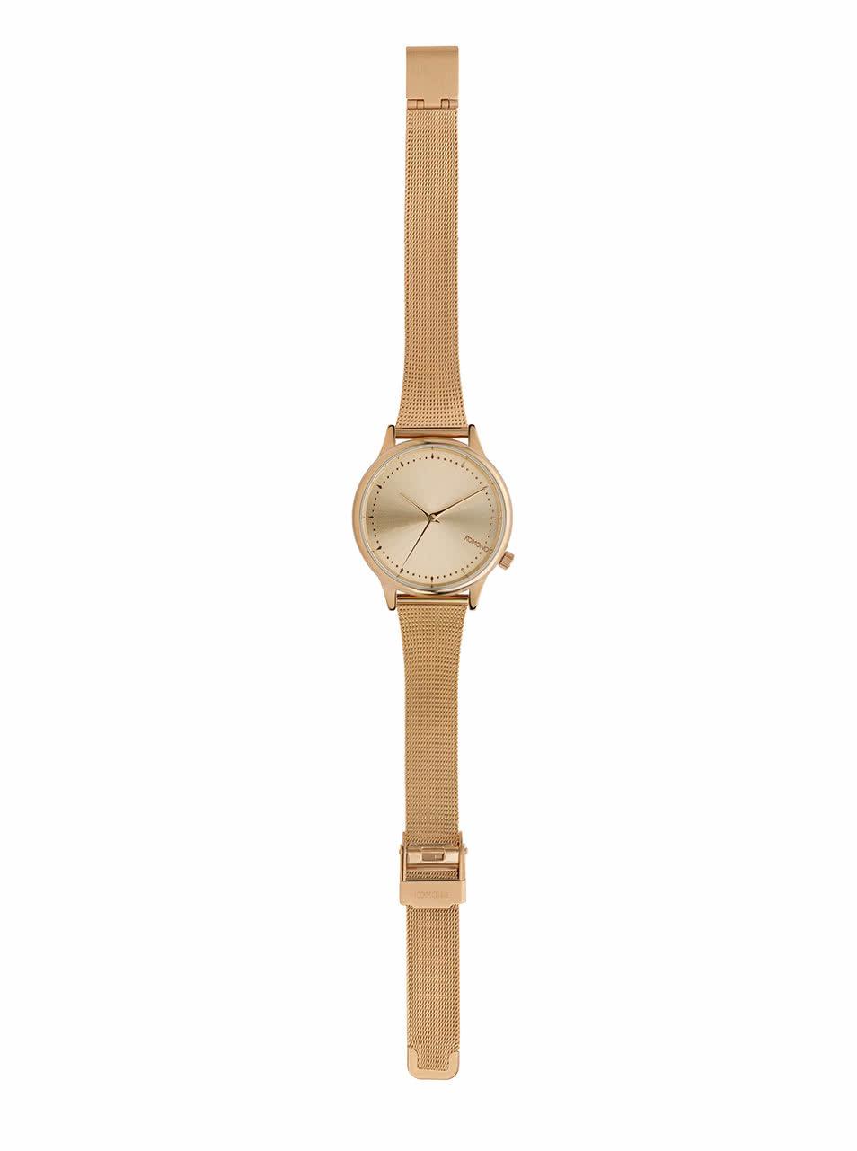 3648a85b90a Dámské hodinky v růžovozlaté barvě s kovovým páskem Komono Estelle Royale  ...