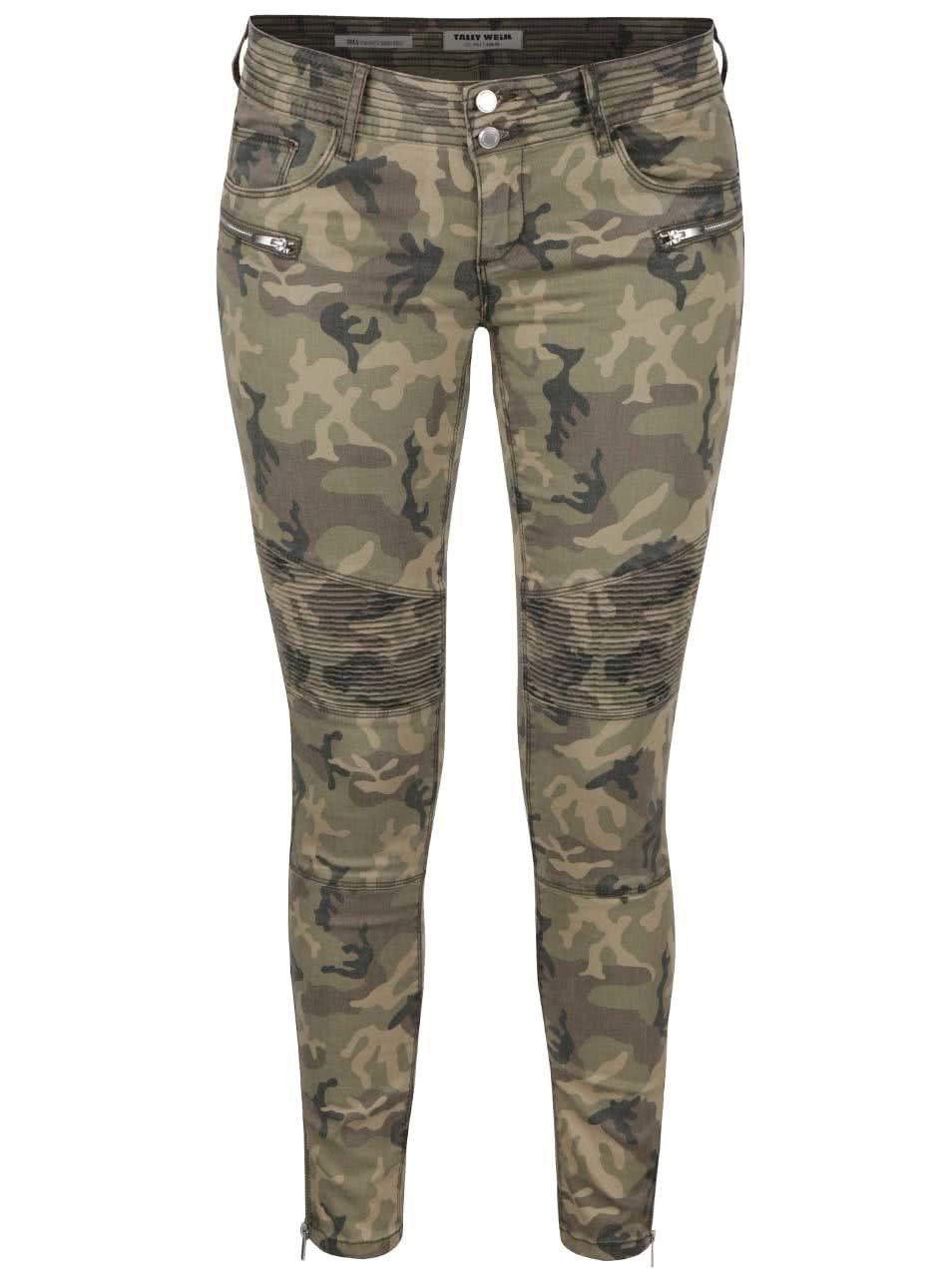 0cb7a409ad91 Zelené maskáčové nohavice TALLY WEiJL ...