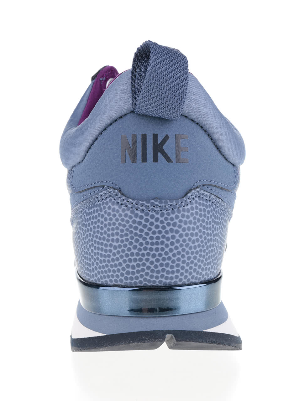 b91e7720fa40b Modré kožené dámske členkové tenisky Nike Internationalist Mid Leather ...