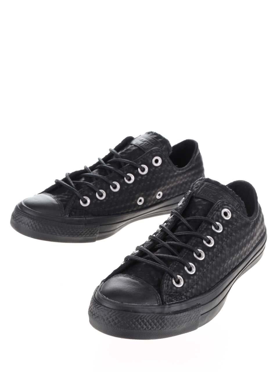 Černé unisex kožené tenisky Converse Chuck Taylor All Star ... 4ac3a64b433