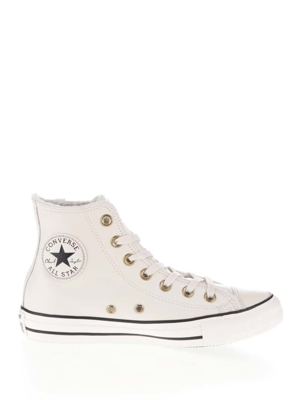 Krémové dámské kožené kotníkové tenisky Converse Chuck Taylor All Star ... 152c581d0be