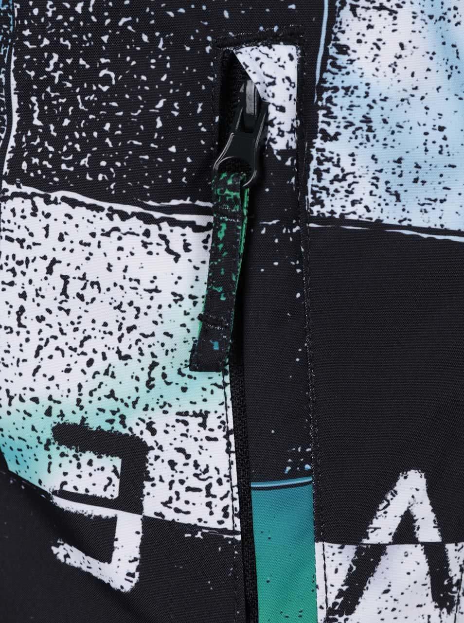 Černo-zelená klučičí kostkovaná zimní bunda Quiksilver ... 0a71438f7b2