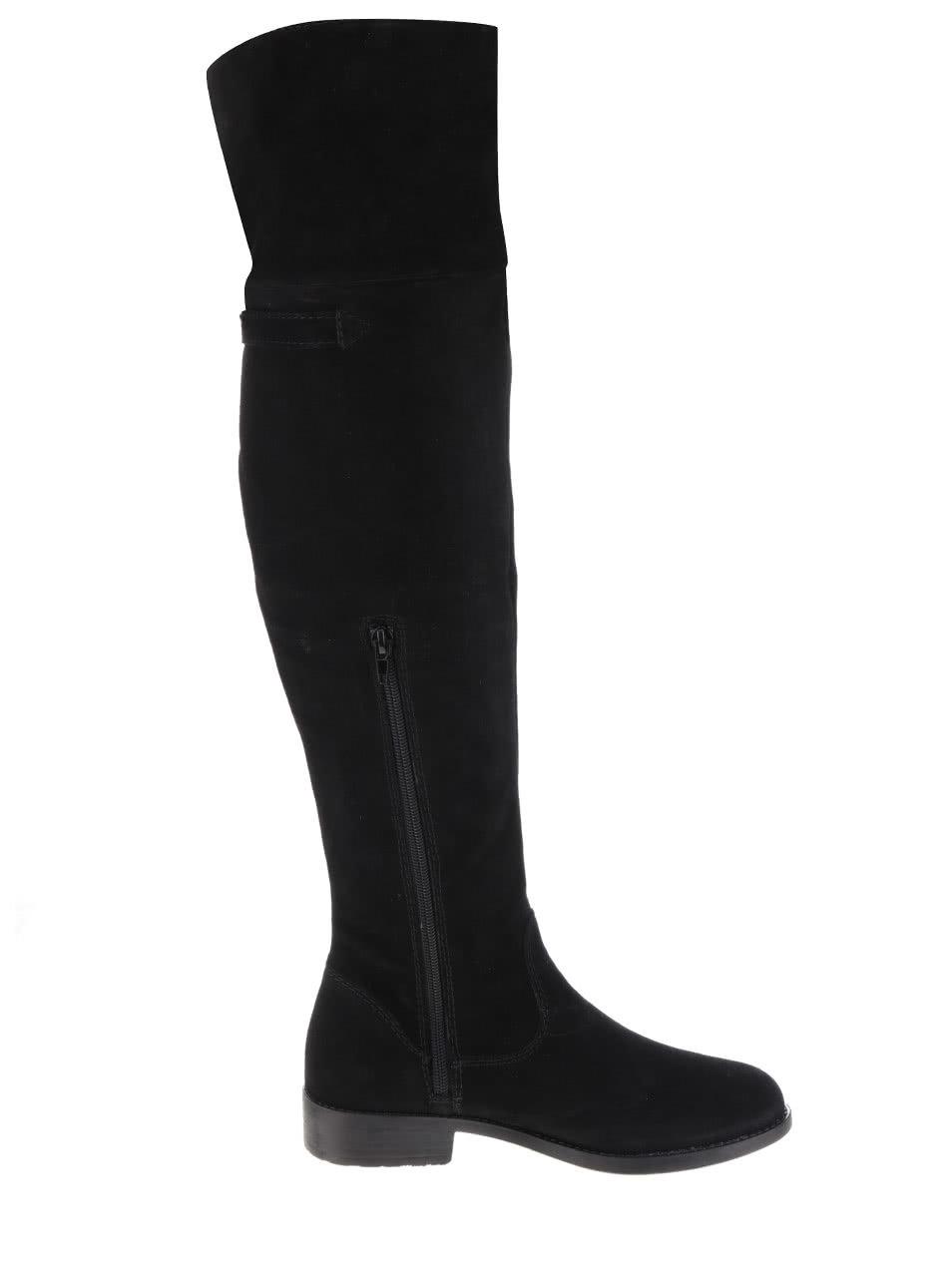 Čierne semišové vysoké čižmy Tamaris ... 44d53cc705d