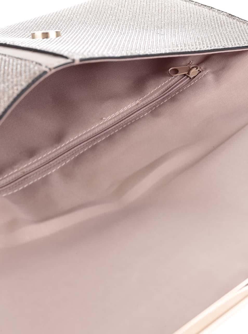 b0aa84afa4 Trblietavá listová kabelka v ružovozlatej farbe Dorothy Perkins ...