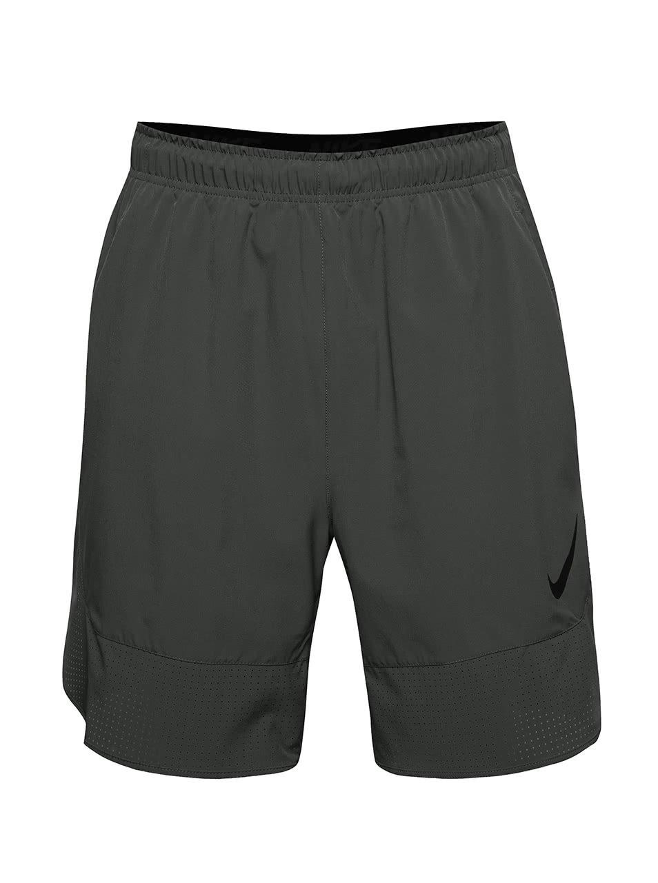 5a26e916d74 Tmavě šedé pánské sportovní kraťasy Nike Flex ...