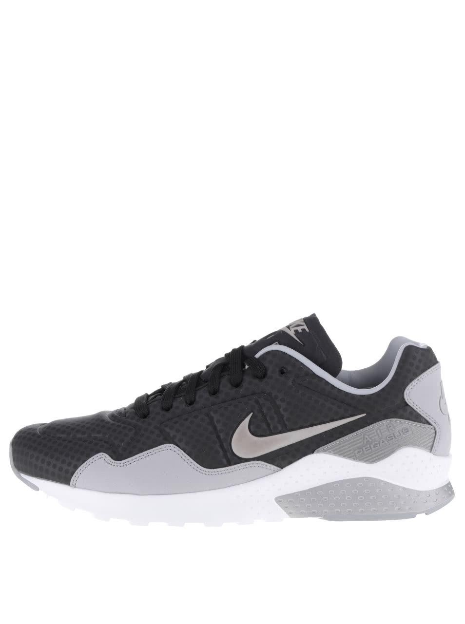 Sivé vzorované pánske tenisky Nike Air zoom Pegasus ... b364c9f20fe