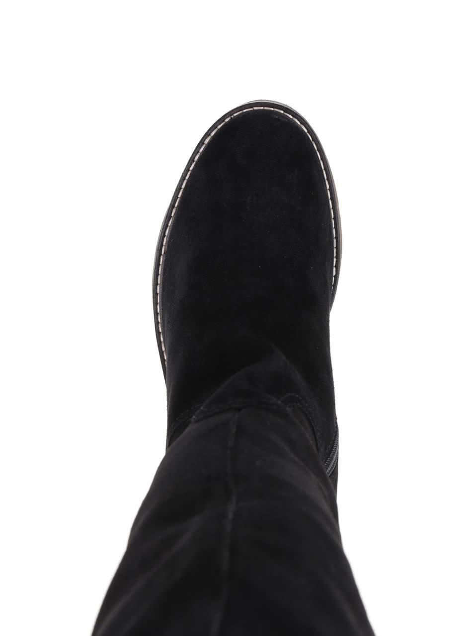 7672d461b Čierne dámske kožené čižmy na podpätku bugatti Adina | ZOOT.sk
