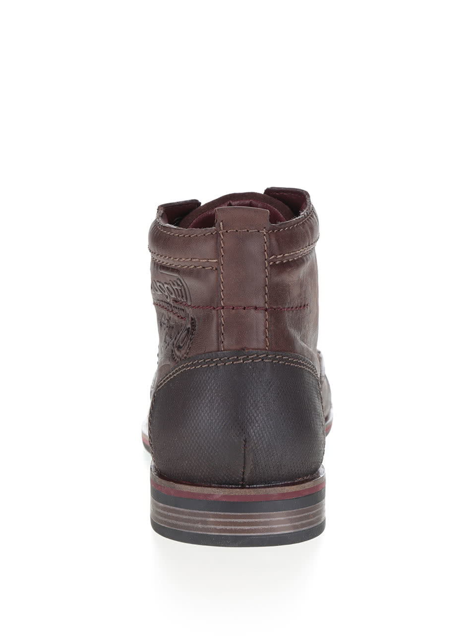 eaa6fef627c1 Hnedé pánske kožené šnurovacie členkové topánky bugatti Abramo ...