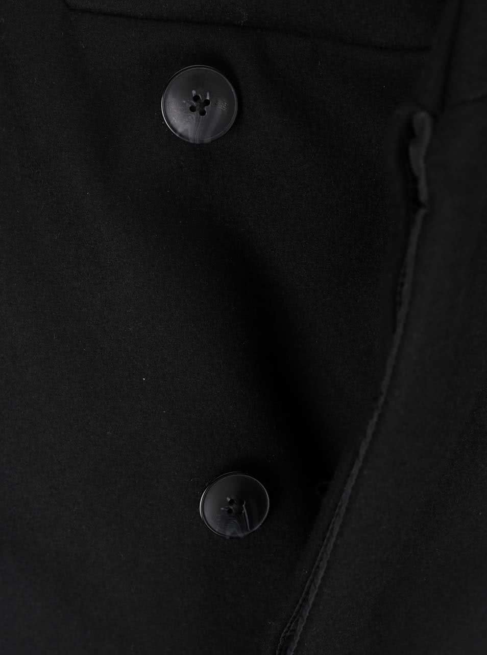 Černý vlněný kabát s vysokým límcem Jack & Jones Gotham