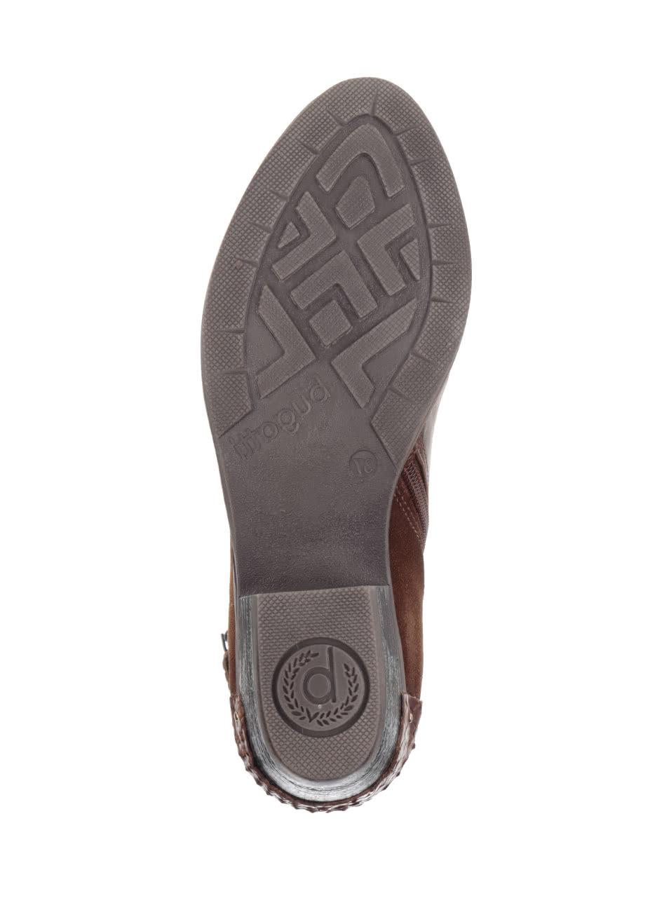 1d055162b5 Hnedé dámske členkové topánky s prackou bugatti Lusie ...
