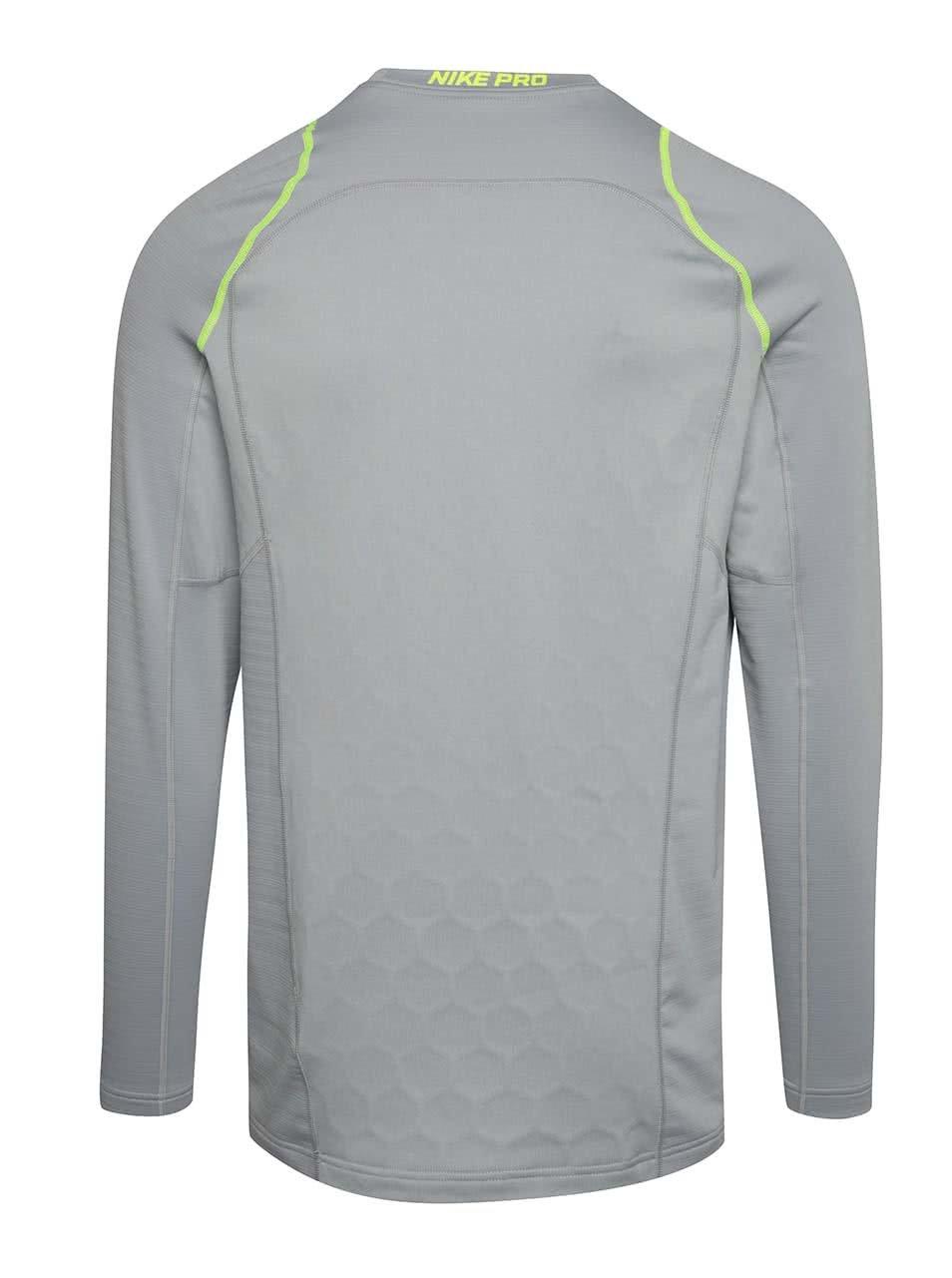cf84ca21c3ca Sivé pánske funkčné tričko s dlhým rukávom Nike Pro Hyperwarm ...