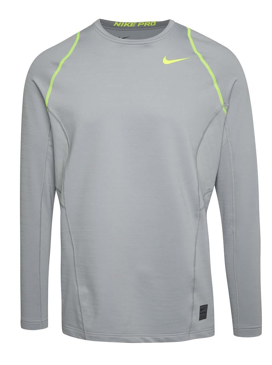 47a2132db05 Šedé pánské funkční triko s dlouhým rukávem Nike Pro Hyperwarm ...