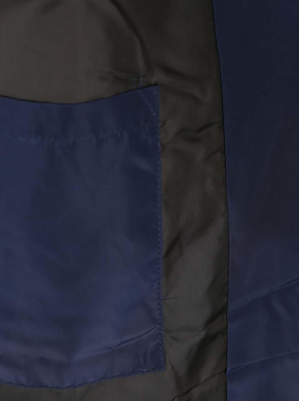 Tmavě modrá prošívaná bunda s kapucí ONLY & SONS Jonnie