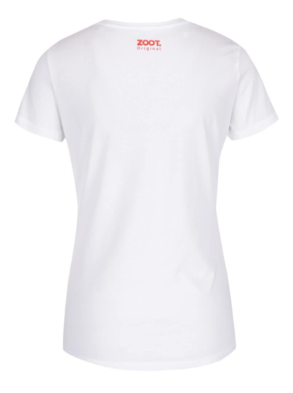 12774abecc32 Bílé dámské tričko s potiskem ZOOT Originál Šťastná a veselá ...