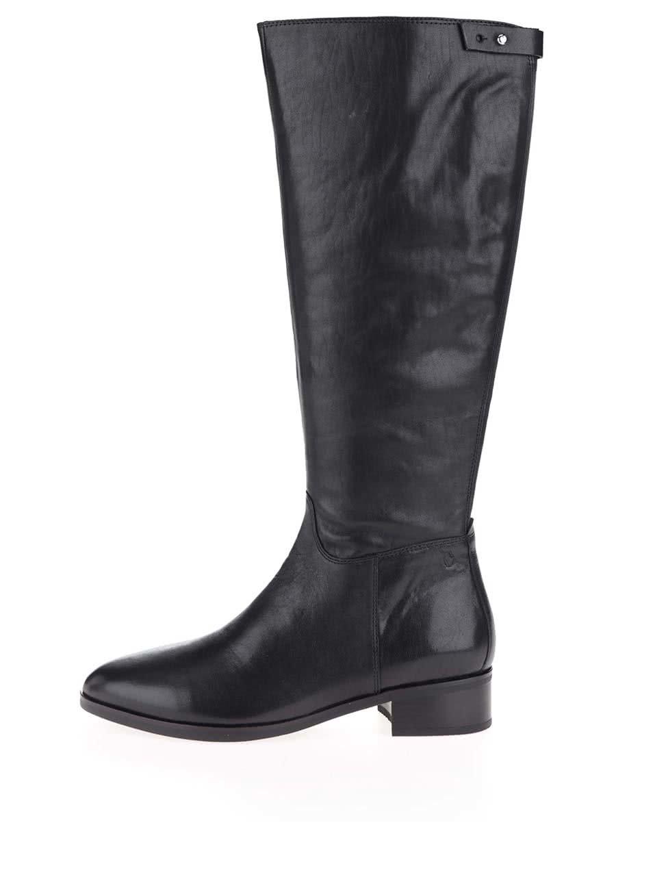 596d11062 Čierne dámske kožené vysoké čižmy Elaine Vagabond | ZOOT.sk