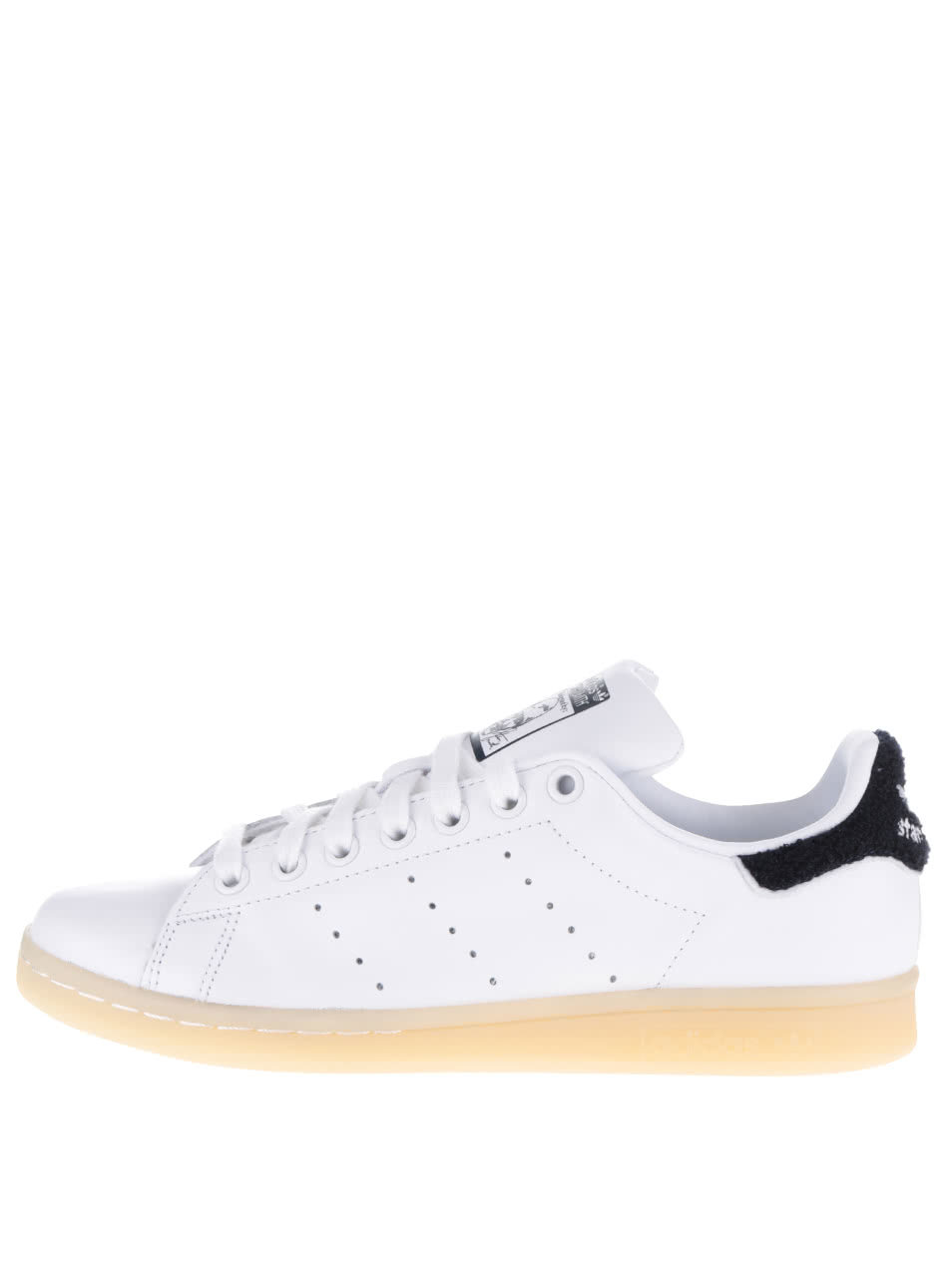 Pantofi sport alb cu negru adidas Originals Stan Smith ...