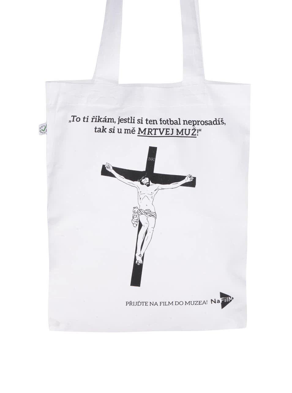 """""""Dobrá"""" bílá plátěná taška NaFILM Homolkovi"""