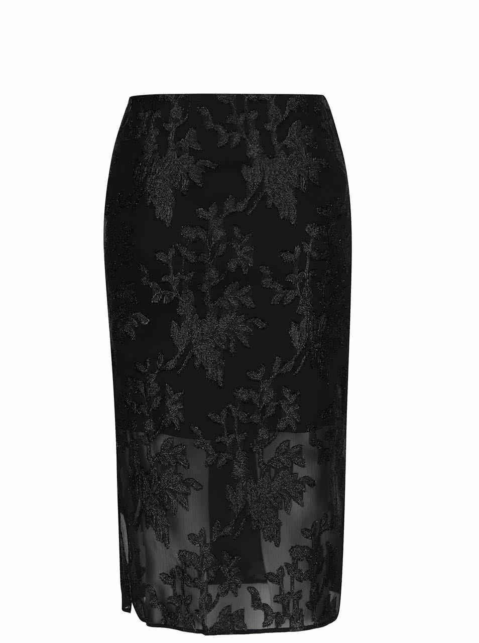 0ac75ca7cc14 Čierna sukňa s trblietavým vyšívaním Miss Selfridge ...