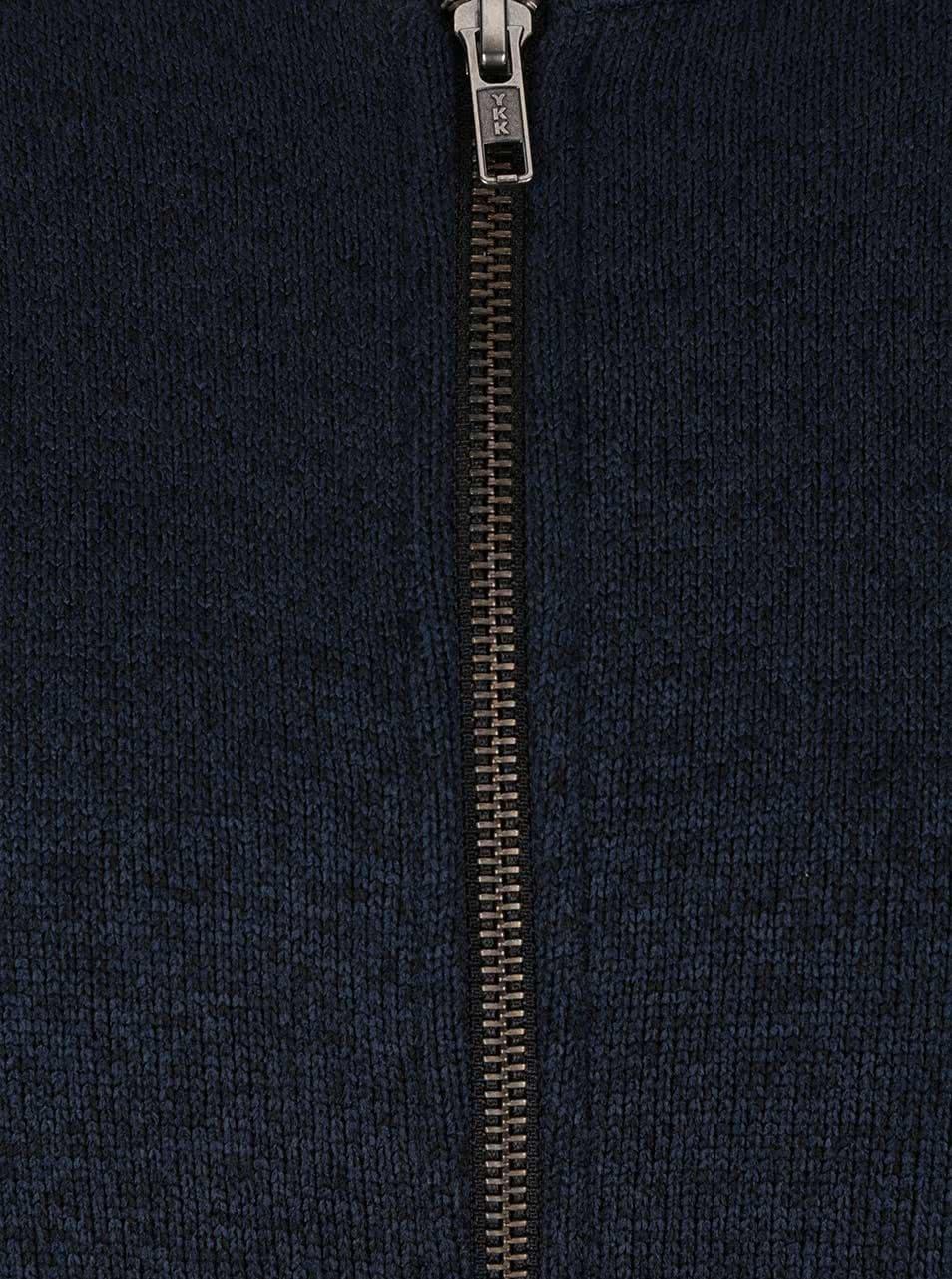 Tmavomodrá melírovaná mikina na zips Jack   Jones Texture ... 58a6d06fca