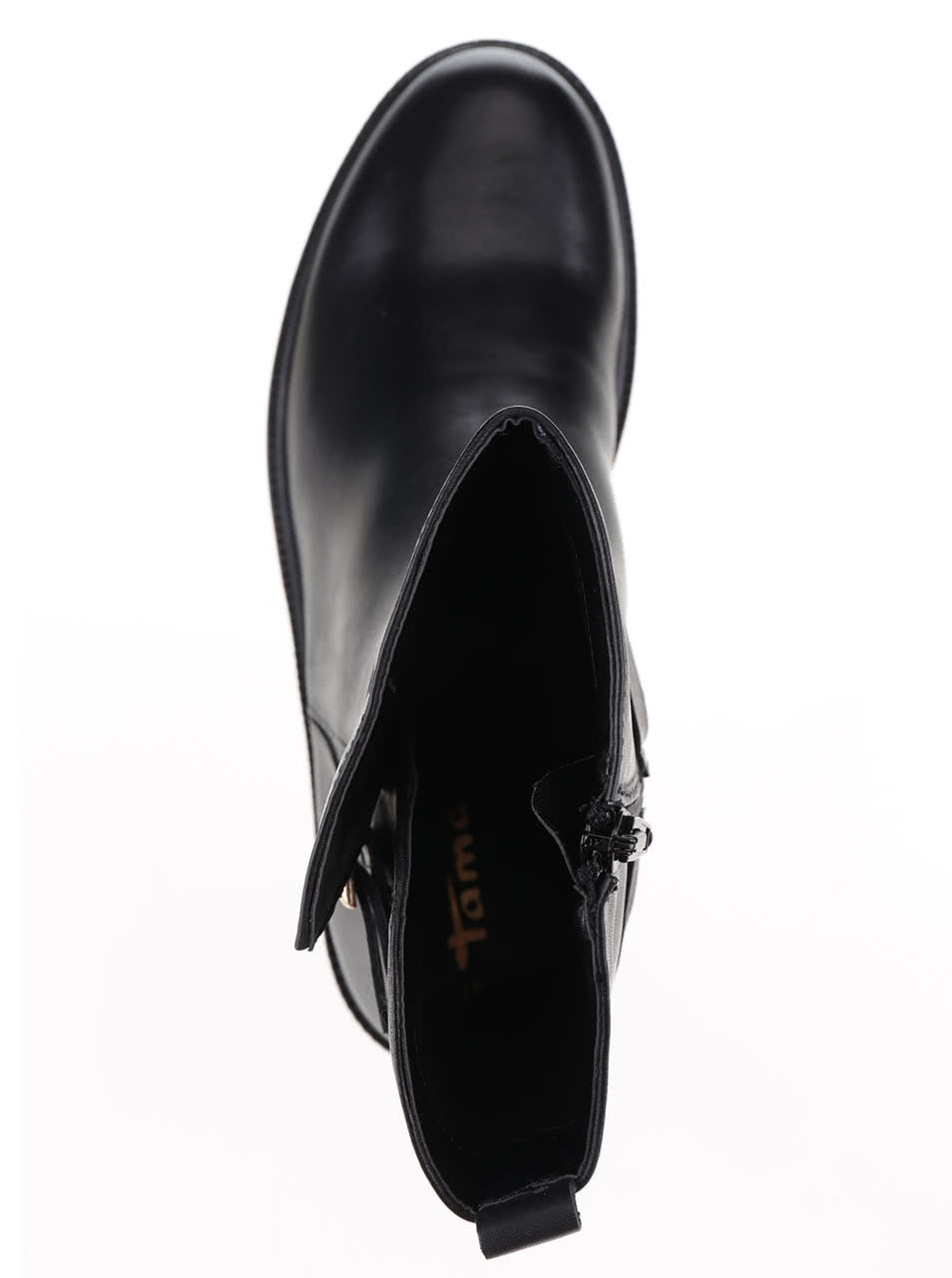 981caf017e18 Čierne kožené nízke čižmy na platforme Tamaris ...