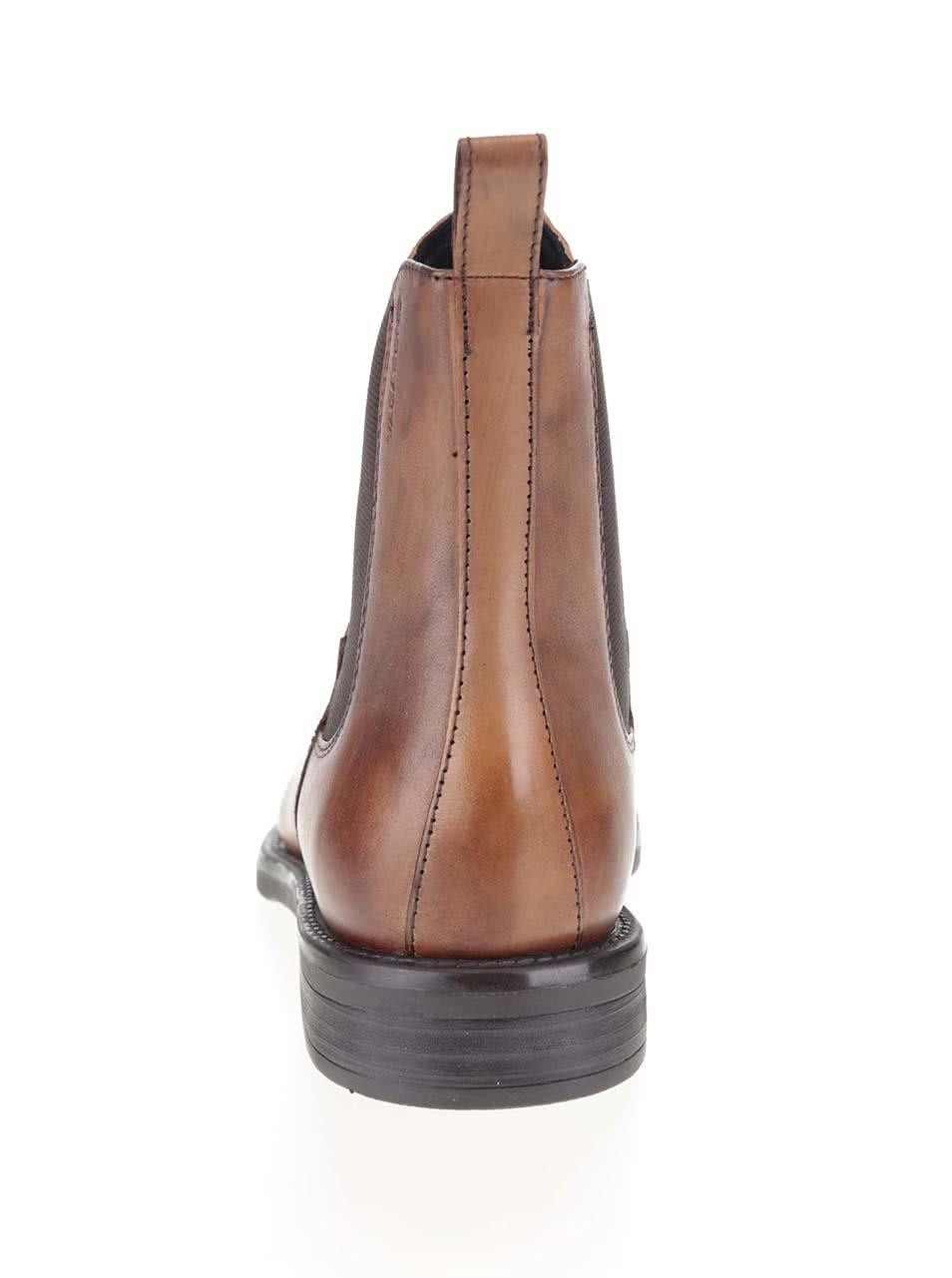 cd8cf81182e Hnědé dámské kožené chelsea boty Vagabond Amina ...