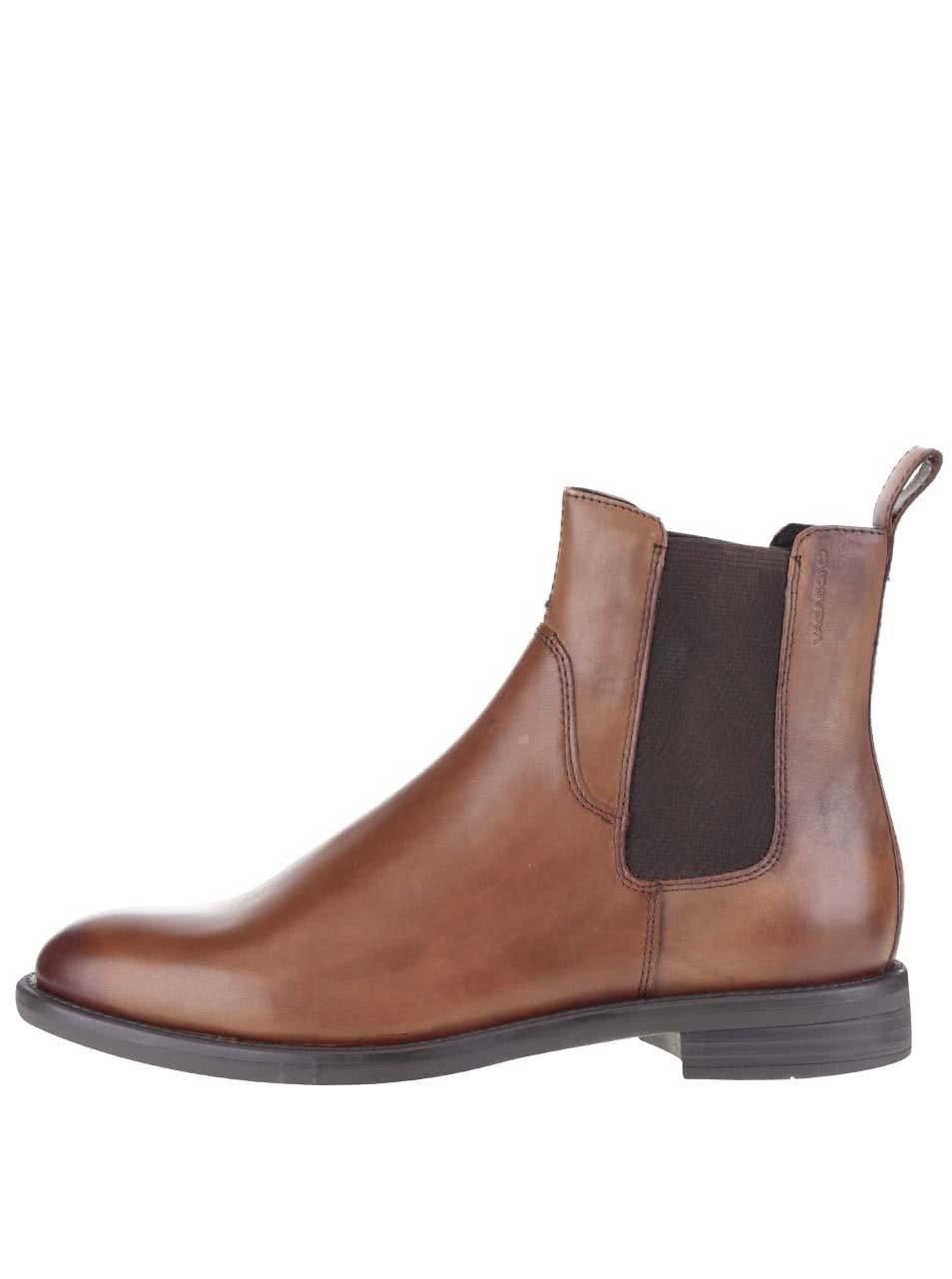 Hnědé dámské kožené chelsea boty Vagabond Amina ... 845d4cf2e1