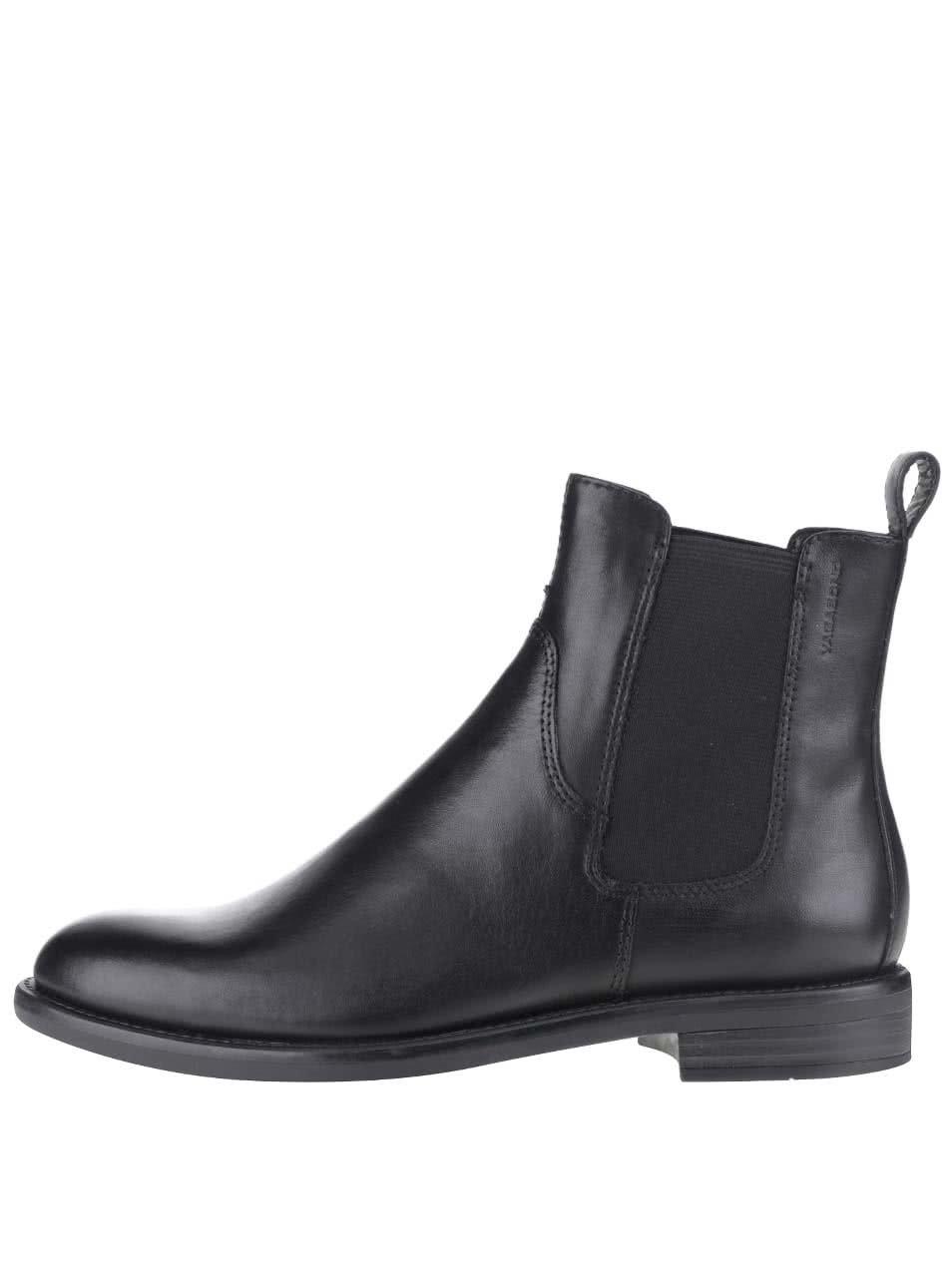 Černé dámské kožené chelsea boty Vagabond Amina ... d39c439142